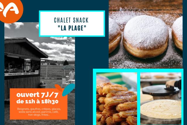 NOUVEAU : un chalet snack à Aquae pour l'été